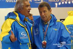 Flavio Briatore and Bernard Dudot