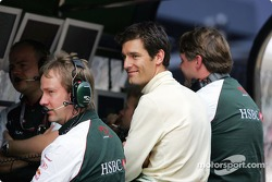 Mark Webber at pitwall