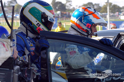 Craig Lowndes out and Glenn Seaton into the car