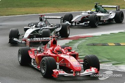 Michael Schumacher ahead of David Coulthard