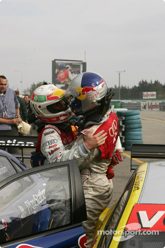 Tom Kristensen, Team Abt Sportsline, Audi A4 DTM 2004; Mattias Ekström, Team Abt Sportsline, Audi A4
