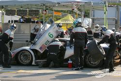 Pitstop for #6 Krohn-Barbour Racing Lamborghini Murcielago R-GT: Tracy Krohn, Scott Maxwell, Joe Fox