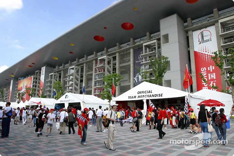 Área de proveedores del circuito internacional de Shanghai
