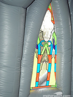 Inflatable church at Barber Motorsports Park
