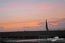 Early morning sky on Homestead-Miami Speedway