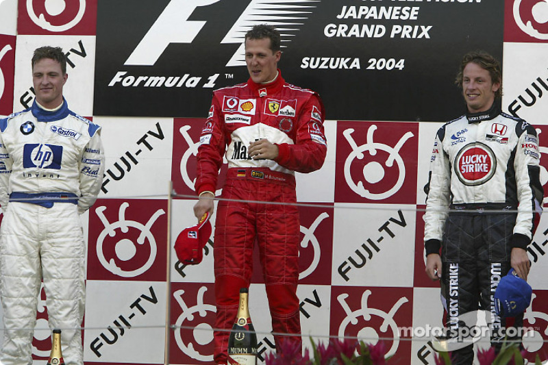2004 - 1. Michael Schumacher, 2. Ralf Schumacher, 3. Jenson Button
