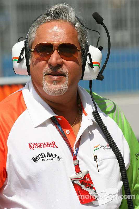 Vijay Mallya Force India F1 Team eigenaar