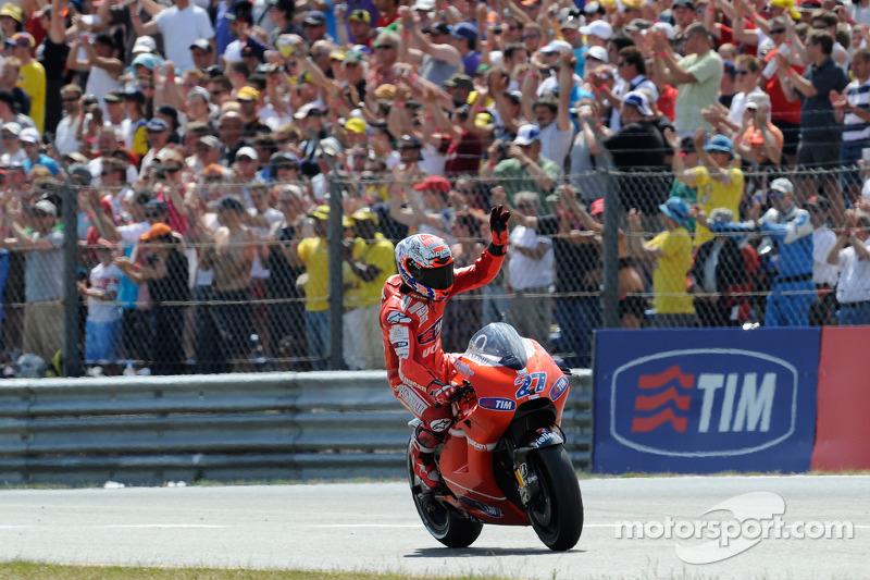 Troisième place pour Casey Stoner, Ducati Marlboro Team