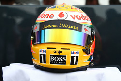 Lewis Hamilton, McLaren Mercedes with a new helmet for Silversonte