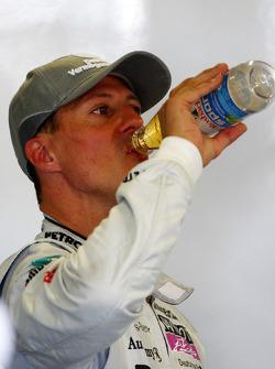 Michael Schumacher, Mercedes GP takes a drink