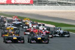 Старт: Себастьян Феттель, Марк Веббер, Red Bull Racing
