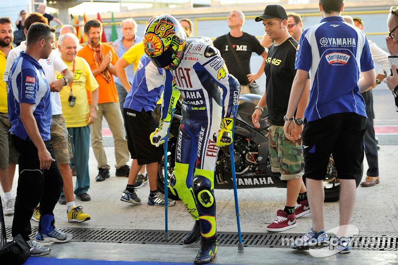 Valentino Rossi, Fiat Yamaha Team primera prueba después de su accidente
