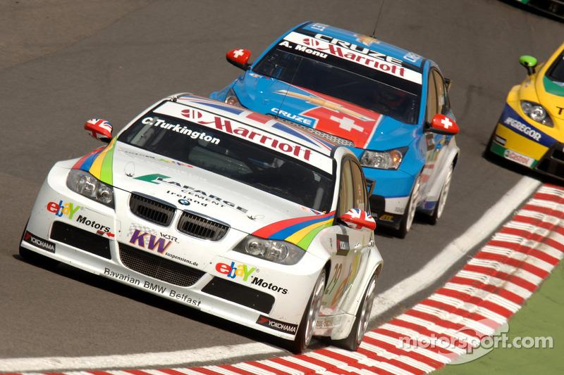 Colin Turkington rijdt voor Alain Menu en Gabriele Tarquini