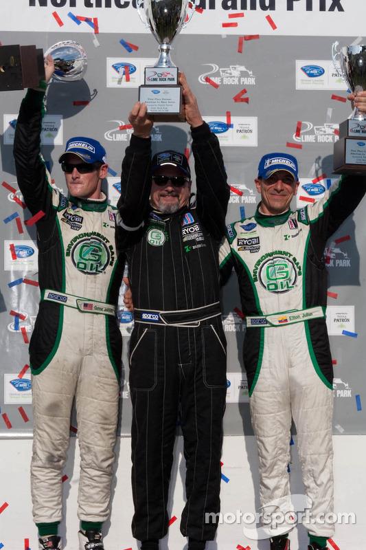PC klasse podium: winnaars Gunnar Jeannette en Elton Julian met Kevin Jeannette