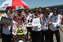 Роджер Ли Хейден, LCR Honda MotoGP с сообщением для Рэнди де Пюнье, LCR Honda MotoGP