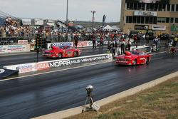 Erica Enders, Piranaz Ford Mustang et Jim Cunningham, Cunningham Motorsports Ford Mustang