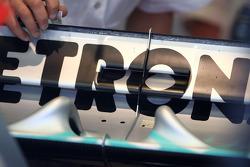 Michael Schumacher, Mercedes GP, rear wing detail