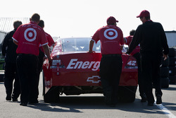 Car of Juan Pablo Montoya, Earnhardt Ganassi Racing Chevrolet at technical inspection