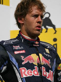Podium: 3de Sebastian Vettel, Red Bull Racing