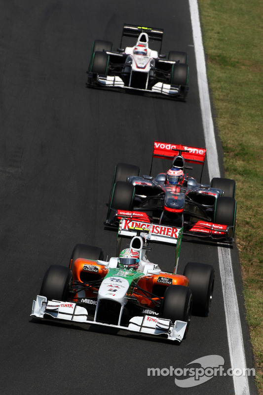 Vitantonio Liuzzi, Force India F1 Team voor Jenson Button, McLaren Mercedes
