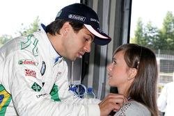 Augusto Farfus BMW Team RBM BMW 320si with his wife Liri