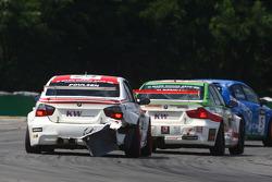 Kristian Poulsen Poulsen Motorsport BMW 320si and Mehdi Bennani Wiechers-Sport BMW 320si