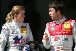 Problemen tussen Susie Stoddart, Persson Motorsport, AMG Mercedes C-Klasse en Mike Rockenfeller, Audi Sport Team Phoenix Audi A4 DTM