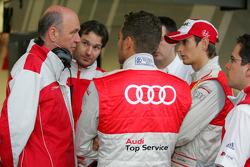 Dr. Wolfgang Ullrich, Audi Chef du sport, Timo Scheider, Audi Sport Team Abt et Oliver Jarvis, Audi Sport Team Abt Audi A4 DTM