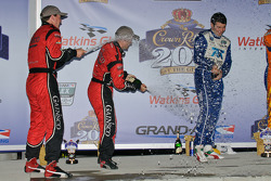 DP podium: champagne celebration