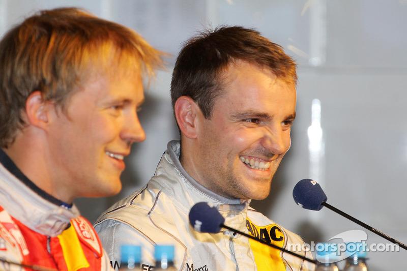 Persconferentie: polezitter Mattias Ekström, Audi Sport Team Abt, 3de Jamie Green, Persson Motorspor