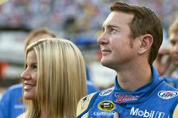 Kurt Busch, Penske Racing Dodge, with wife Eva