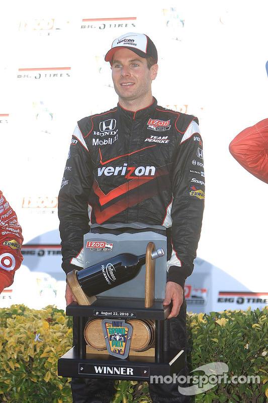 Podium: race winnaar Will Power, Team Penske