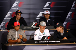 Lewis Hamilton, McLaren Mercedes, Sebastien Buemi, Scuderia Toro Rosso, Michael Schumacher, Mercedes GP, Pedro de la Rosa, BMW Sauber F1 Team, Sebastian Vettel, Red Bull Racing
