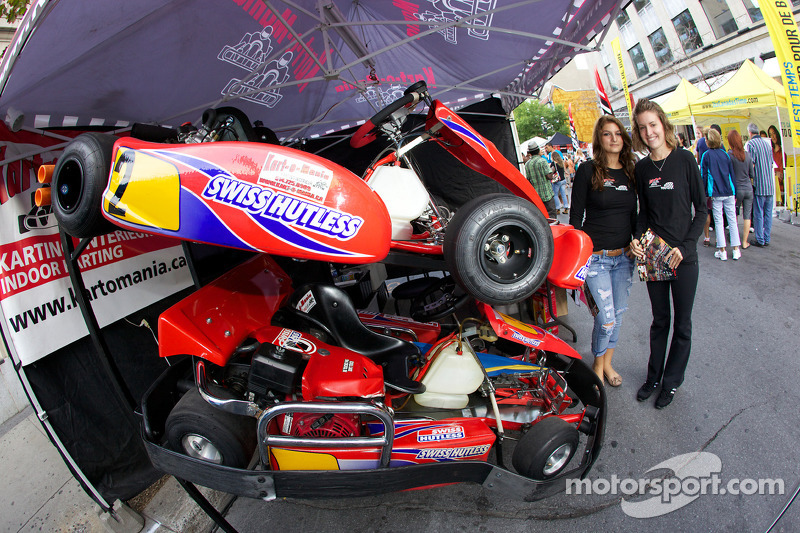 Go karts at the ford racing festival on crescent street at for Go kart interieur montreal