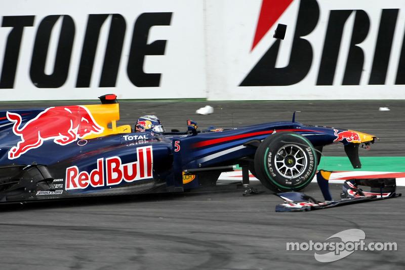 Problemen voor Sebastian Vettel, Red Bull Racing