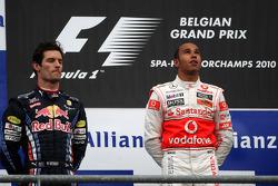 Podium : Lewis Hamilton vainqueur, seconde place pour Mark Webber