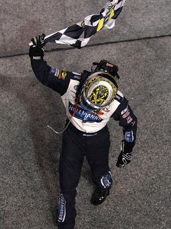 Race winner Jamie McMurray celebrates