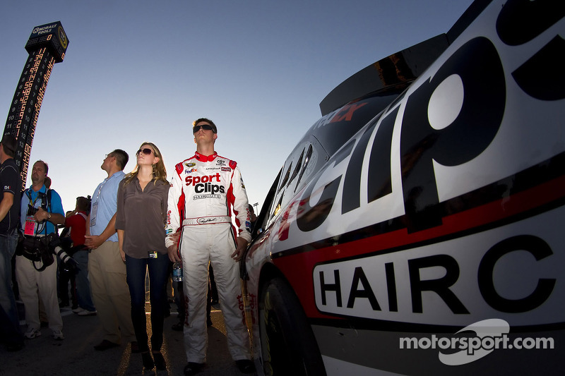 Polepositie Denny Hamlin, Joe Gibbs Racing Toyota