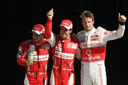 Felipe Massa, Scuderia Ferrari , Fernando Alonso, Scuderia Ferrari en Lewis Hamilton, McLaren Mercedes