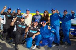 Victory lane: race winner Greg Pursley celebrates with his team