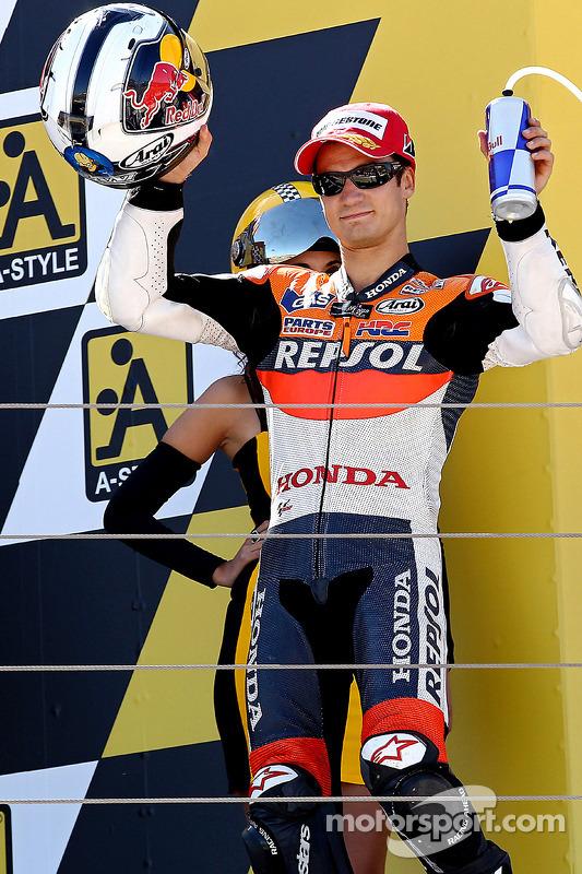 Podium : deuxième Dani Pedrosa, Repsol Honda Team