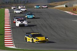 Start: #13 Phoenix Racing / Carsport Corvette Z06: Marc Hennerici, Alexandros Margaritis leads the field