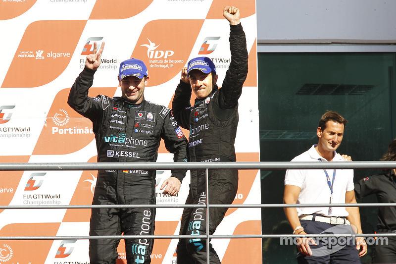 Podium: race winnaars Michael Bartels en Andrea Bertolini