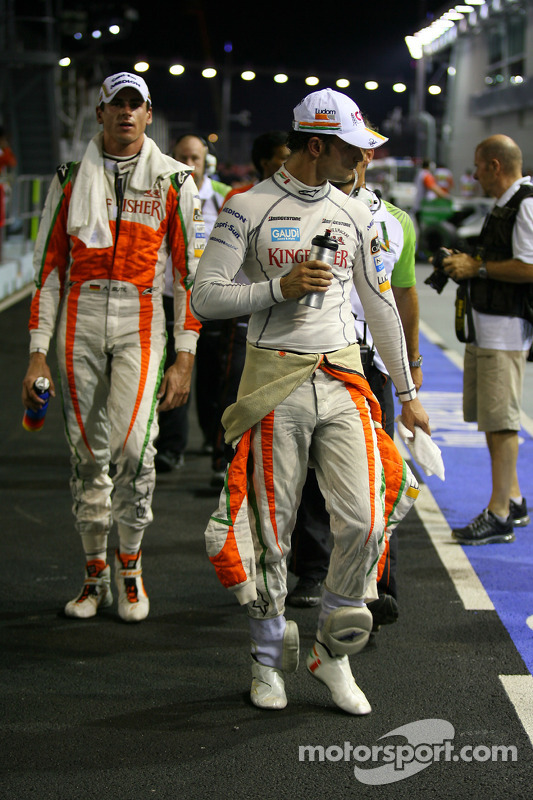 Vitantonio Liuzzi, Force India F1 Team en Adrian Sutil, Force India F1 Team