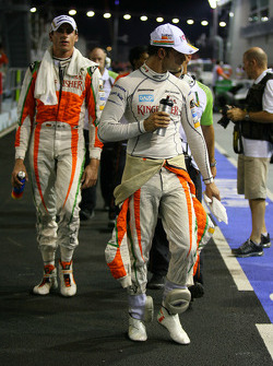 Vitantonio Liuzzi, Force India F1 Team y Adrian Sutil, Force India F1 Team