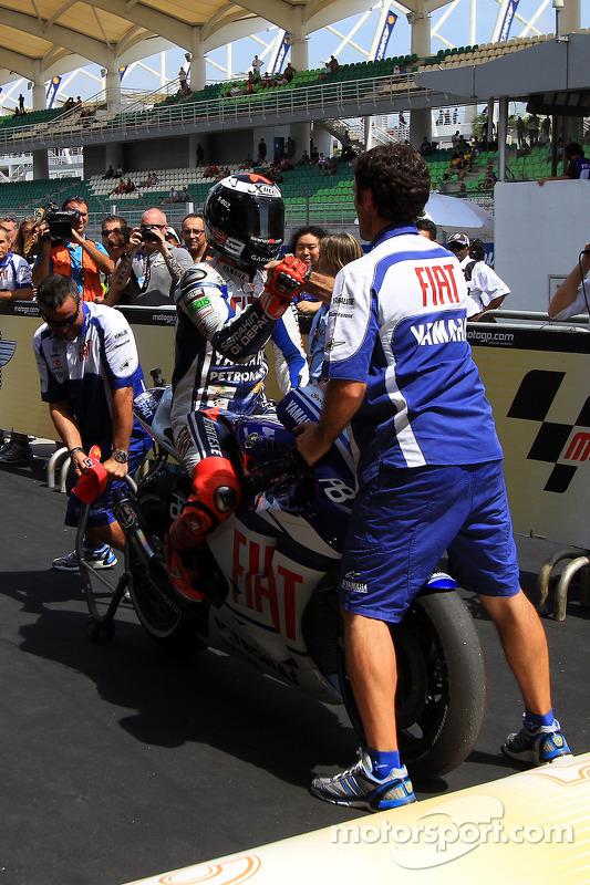 Le poleman Jorge Lorenzo, Fiat Yamaha Team