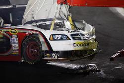 Damaged car of Sam Hornish Jr., Penske Racing Dodge