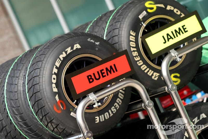 Scuderia Toro Rosso, Bridgestone banden