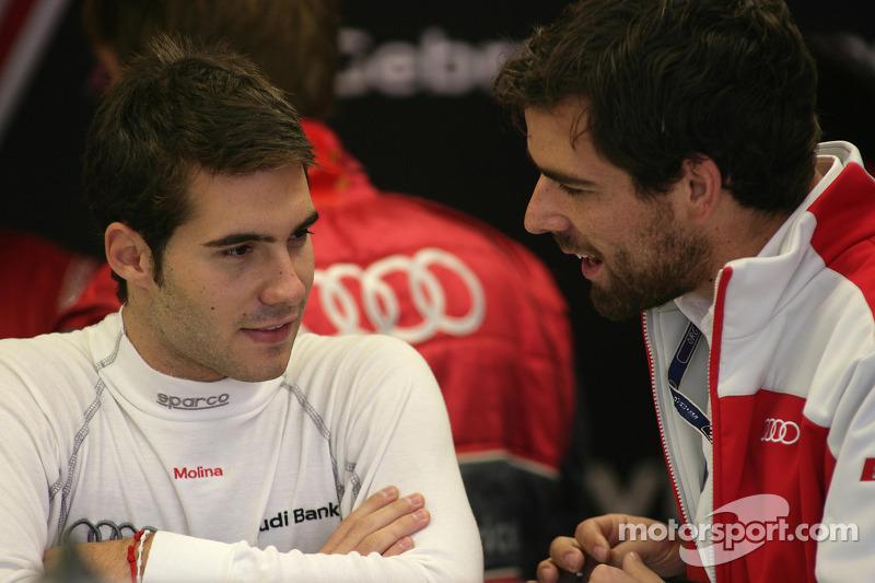 Miguel Molina, Audi Sport Rookie Team Abt, Audi A4 DTM y su ingeniero Markus Michelberger en 2010