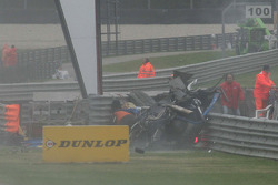 Huge crash for Alexandre Prémat, Audi Sport Team Phoenix Audi A4 DTM